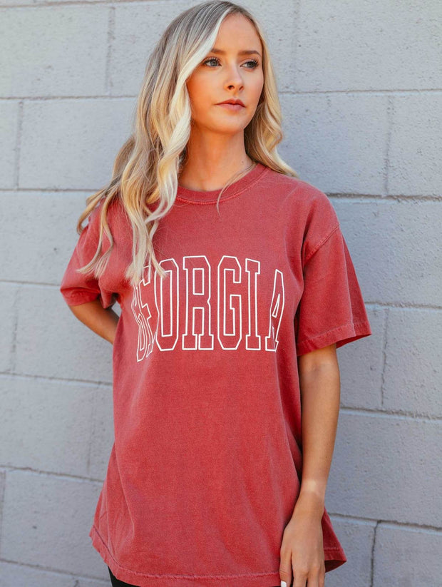Charlie Southern - Georgia Letter Jersey T-Shirt