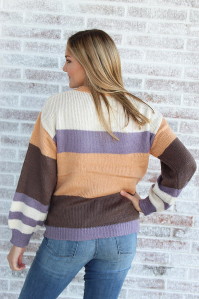 In The Wind Balloon Sleeve Sweater