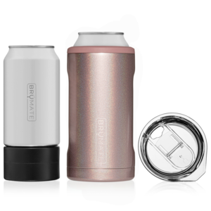 BruMate - HOPSULATOR TRíO 3-in-1 | Glitter Rose Gold (16oz/12oz cans)