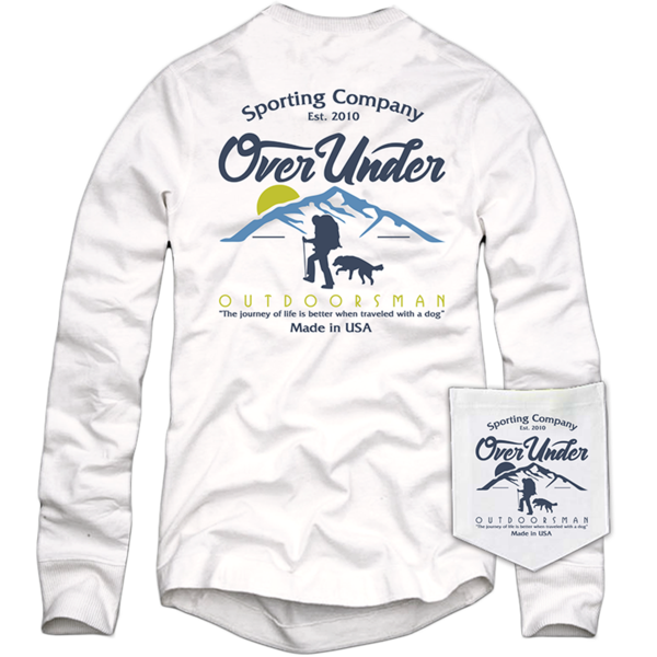 Over Under - Mountaineer LS Tee - White