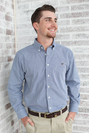 Southern Charm - Performance Button Down - Navy/White