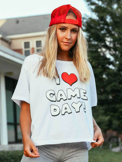 Charlie Southern - I Heart Gameday Cropped T-Shirt