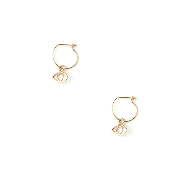 Willow Eye Drop Earring 14k Gold