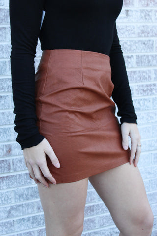 Cool Again Snake Print Mini Skirt