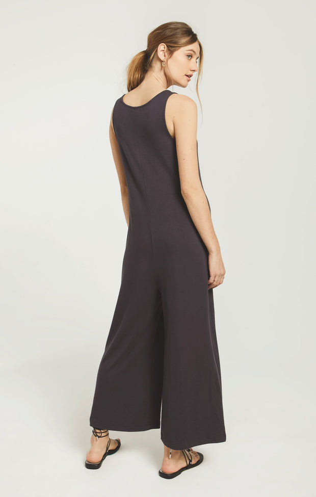 Z Supply The Mojave Jumpsuit - Washed Black