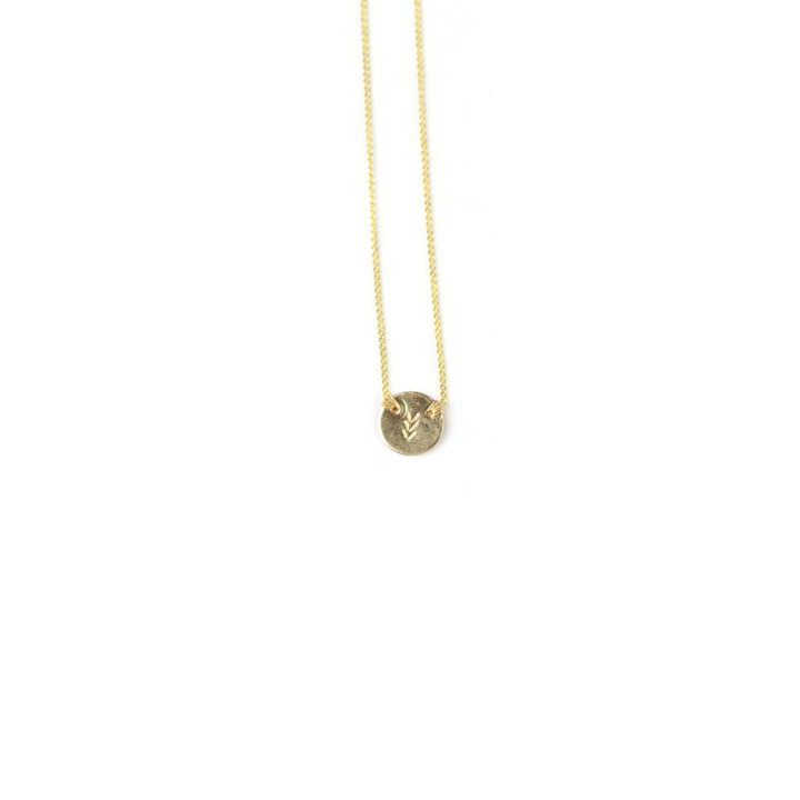 Sadie Arrow Disc Necklace