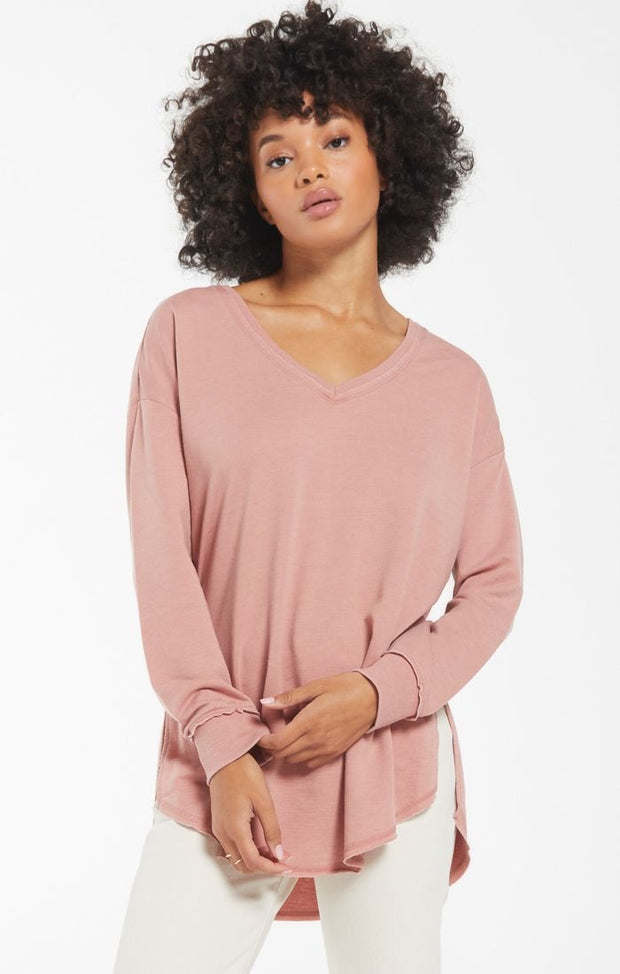 Z Supply The V-Neck Weekender - Wild Rose