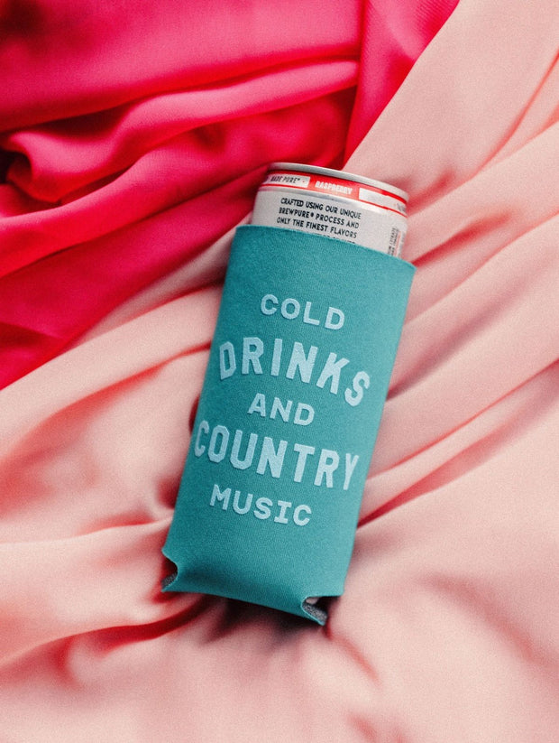 Charlie Southern - Cold Drink & Country Music Slim Can Drink Sleeve