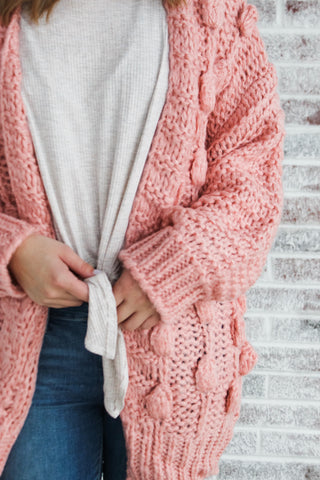 Making Distractions Chunky Knit Cardigan