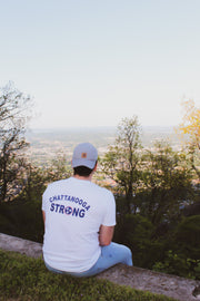 Chattanooga Strong Back Graphic- White