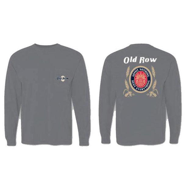 Old Row - Retro Can LS Tee - Granite