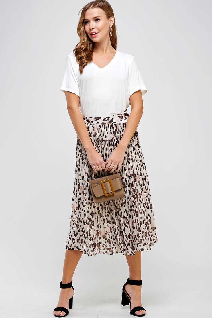 Dot of Love Pleated Skirt