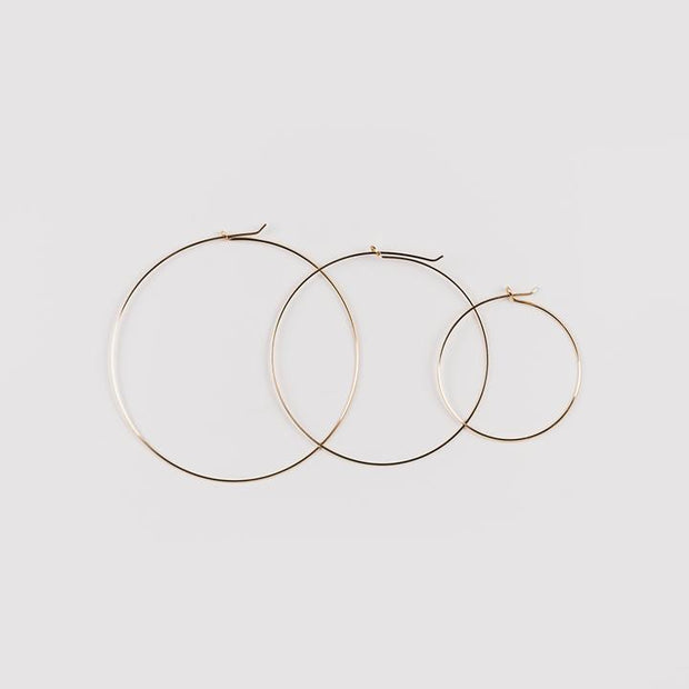 Erika Thin Wire Hoop - 14k Small