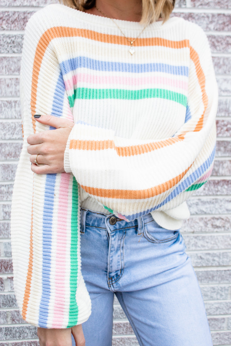 Best Of My Love Striped Sweater