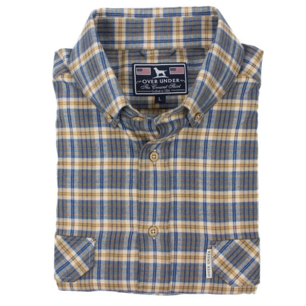 Over Under- The Crosscut Flannel Shirt- Blue Spruce