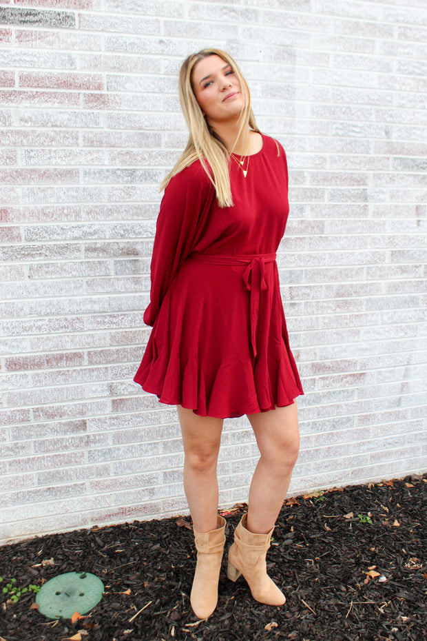 Living Life To The Fullest Full Ruffle Mini Dress
