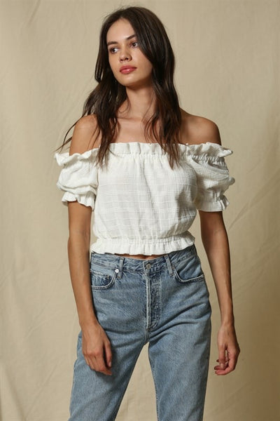 See You Tonight Eyelet Ruffle Top