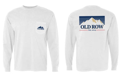 Old Row -  Mountain Brew LS Pocket Tee - White
