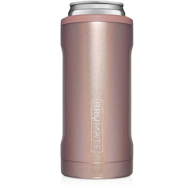 BruMate - HOPSULATOR SLIM | GLITTER ROSE GOLD (12OZ SLIM CANS)