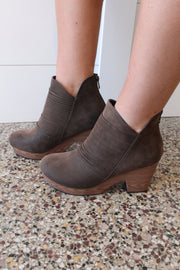 Pamela Brown Suede Detail Bootie