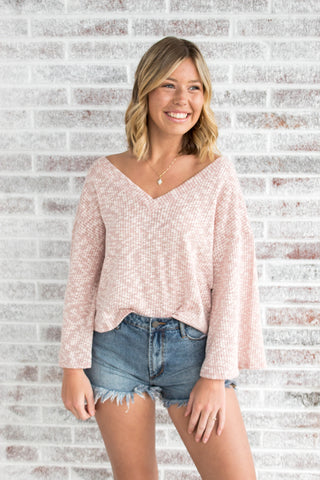 Get Obsessed Knit Wide Sleeve Top