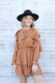 Bolder Feelings Ruffle Smock Dress