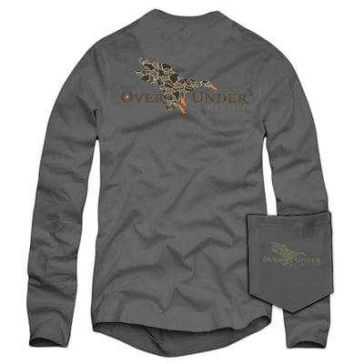 Over Under - LS Duck Camo Mallard - Grey
