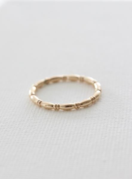 Katie Waltman - Gold Bamboo Stacking Ring 6