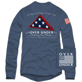 Over Under - Folds of Honor LS Tee - Navy