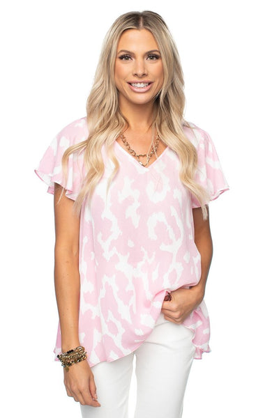 Buddy Love- Avril Abstract Top