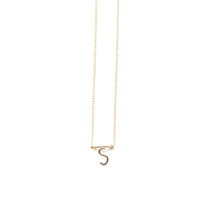 Etta Bar Initial Necklace J
