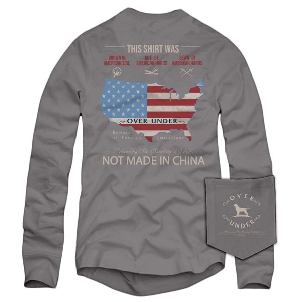 Over Under - LS American Hands - Grey