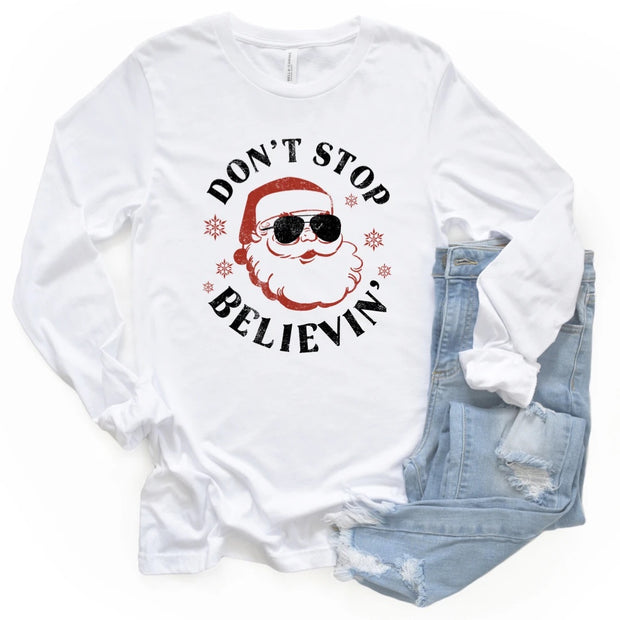 Don't Stop Believin' Christmas LS Graphic