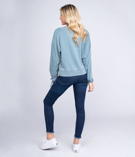 Southern Shirt - Bella Burnout Sweatshirt- Blue Forest
