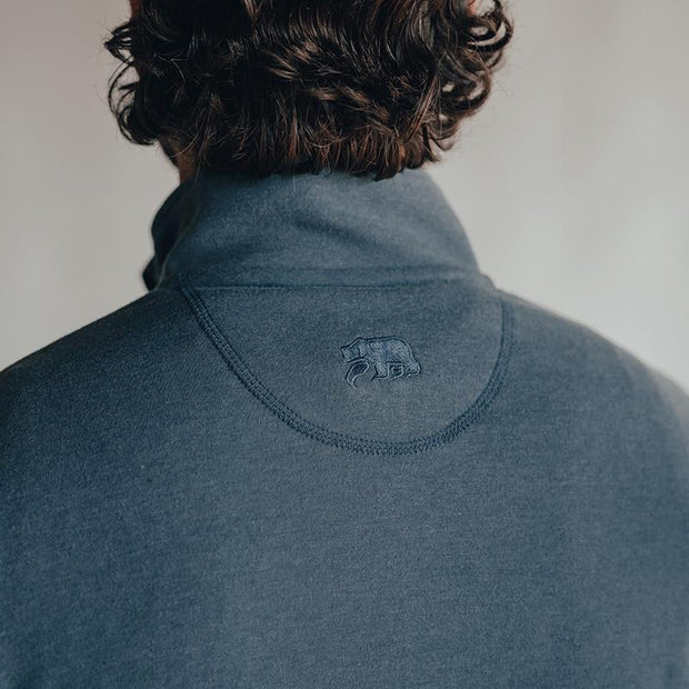 The Normal Brand - Puremeso Quarter Zip Pullover - Mineral Blue