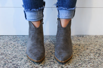 Amour Grey Bootie