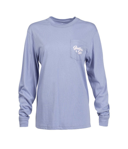 Southern Shirt-  Mountain View LS- Frost Blue
