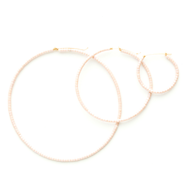 Erika Micro Beaded Small 14k Hoops Anew