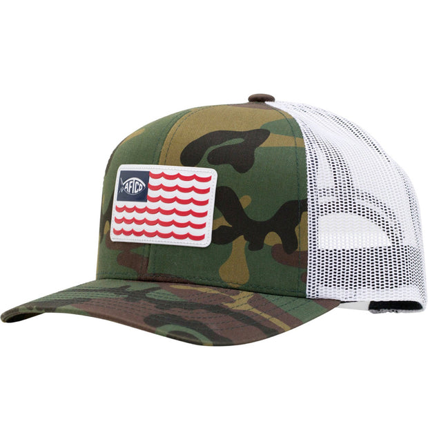 Aftco - Canton Trucker Hat - Green Camo