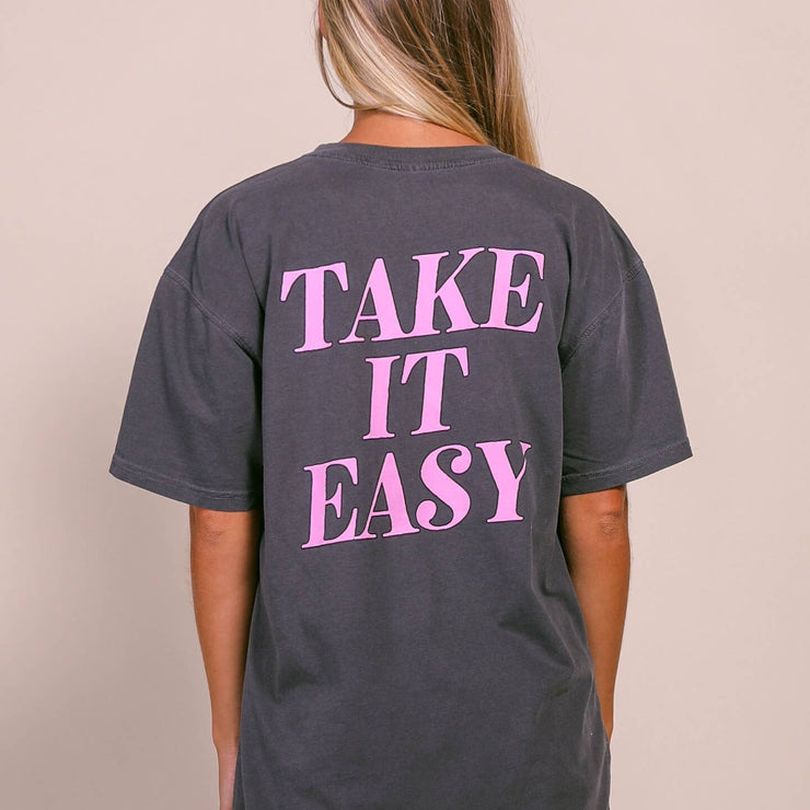 Friday + Saturday - Take It Easy Pocket Tee