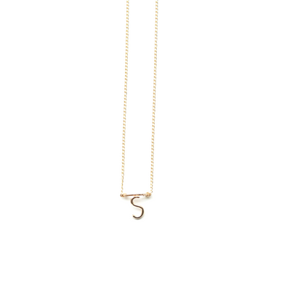 Etta Bar Initial Necklace B