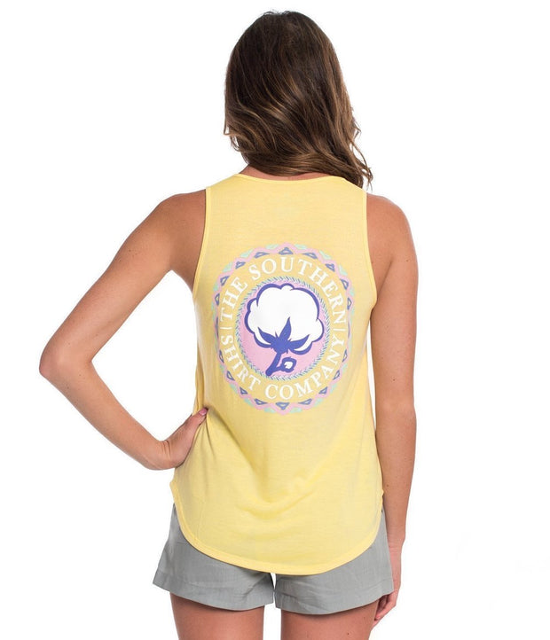 Southern Shirt - Tribal Print Katy Tank - Sunshine