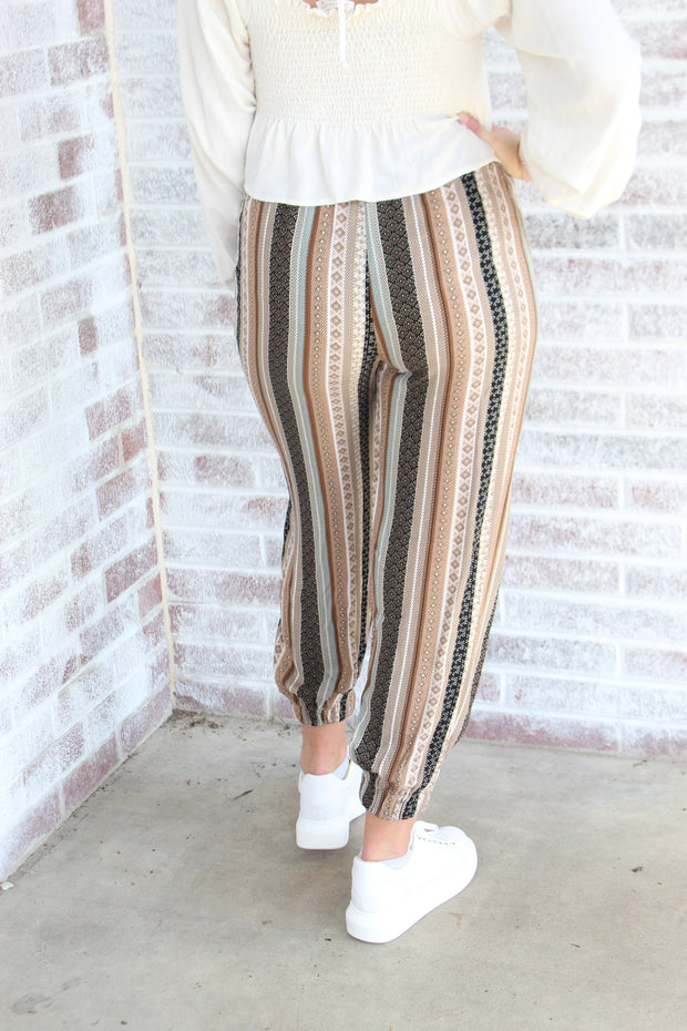 Running In Circles Printed Joggers