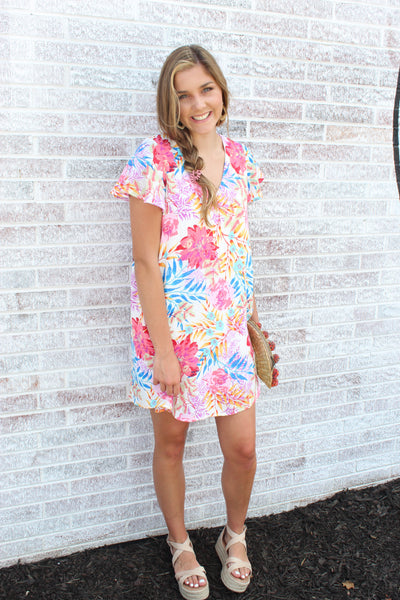 Napa Bound Floral Dress
