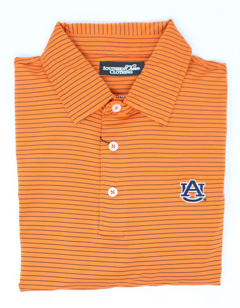 Southern Charm - Auburn Lutzenkirchen Performance Polo - Orange/Navy