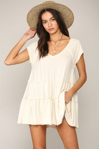 Closer To The Heart V-Neck Tiered Tunic