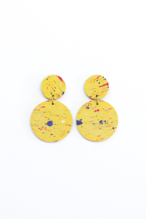 Rover & Kin Confetti Clay Earrings - Yellow