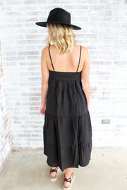 Going Uptown Tiered Midi Dress