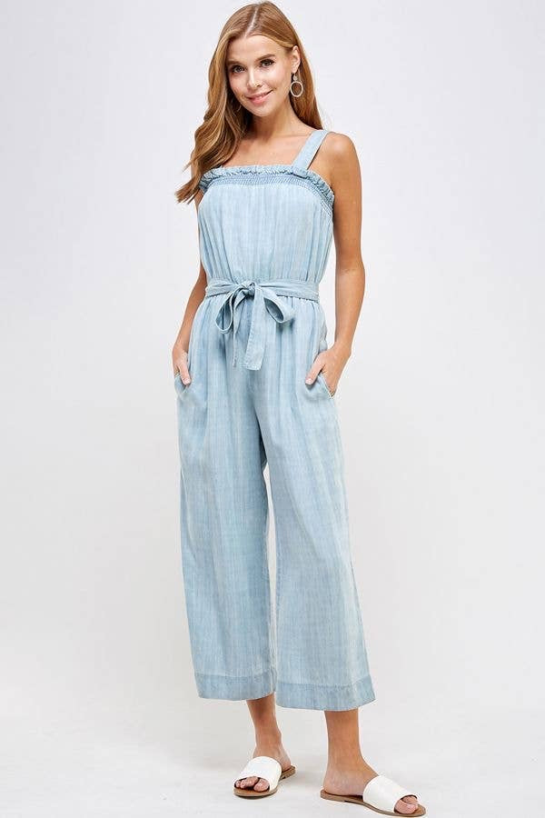 On Repeat Bow Wide-Leg  Jumpsuit