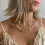 Chained Necklace Gold